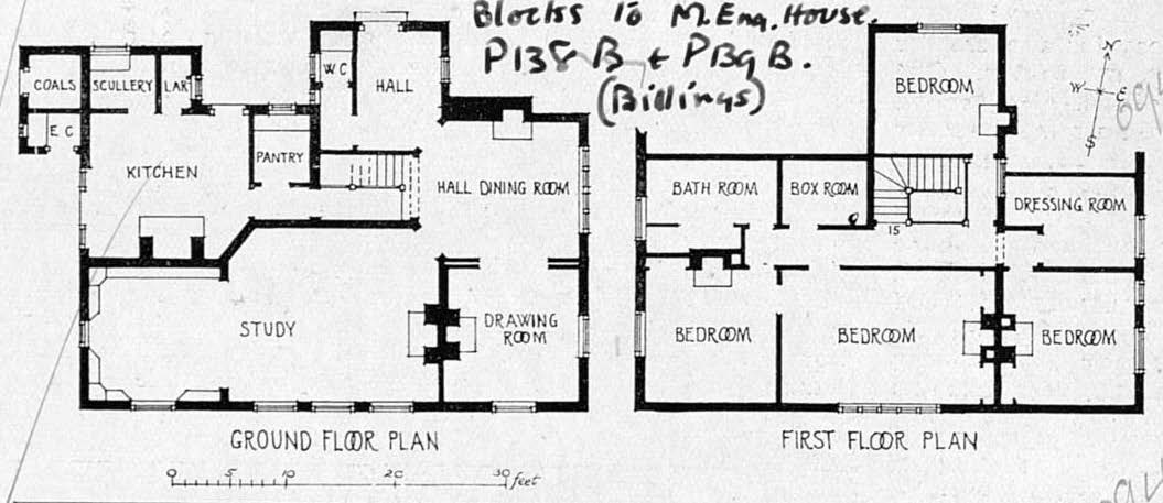 floorplan of ground and first floors