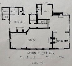 Ground Floor Plan, shows Study, Dining Room, Kitchen, Pantry, and other asorted rooms