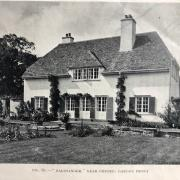 Black and white image of two storry house from a magazine. [caption on image reads: Fig. 61 -